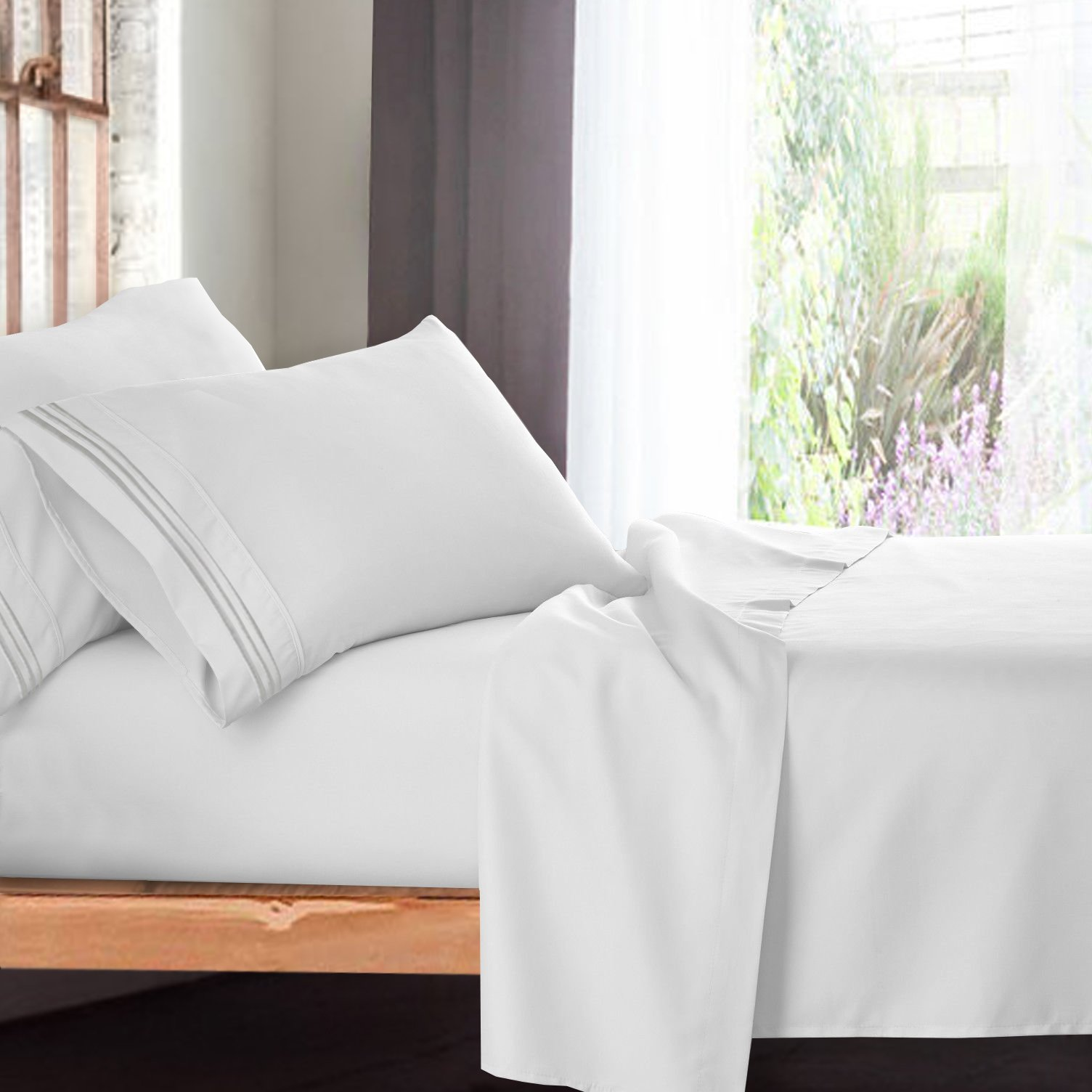 Premium Full (Double) Size Sheets Set - White Hotel Luxury 4-Piece Bed Set, Extra Deep Pocket Special Super Fit Fitted Sheet, Best Quality Microfiber Linen Soft & Durable Design + Better Sleep Guide by Empyrean Bedding (Image #10)