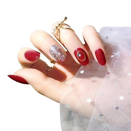 AiSi - 24 piezas de puntas de uñas postizas para decoración de uñas, para niñas
