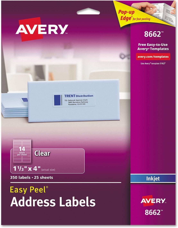 AVE8662 - Avery Easy Peel Inkjet Mailing Labels