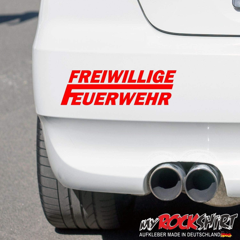 Myrockshirt Freiwillige Feuerwehr Aufkleber Autoaufkleber 20x6cm Profi Qualität Für Lack Scheibe Auto