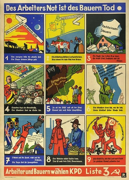 Diseño de alemán de entreguerras Propaganda Comunista ...