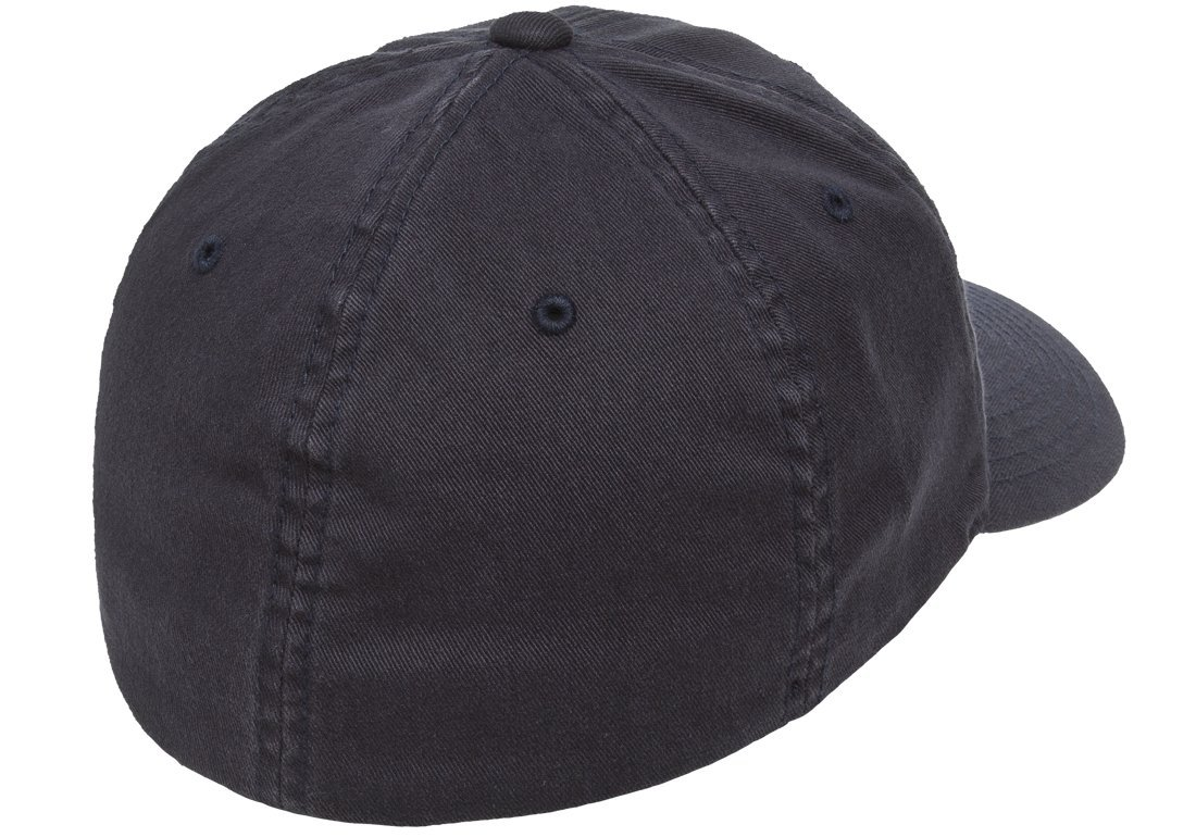 Flexfit/Yupoong Men's Low-Profile Unstructured Fitted Dad Cap, Navy, Large/Extra Large by Flexfit/Yupoong (Image #2)