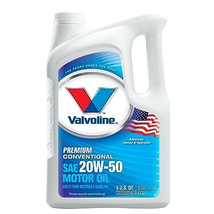Amazon.com: Valvoline Premium Conventional SAE 20W-50 Motor Oil - 5qt (Case of 3) (833432): Automotive
