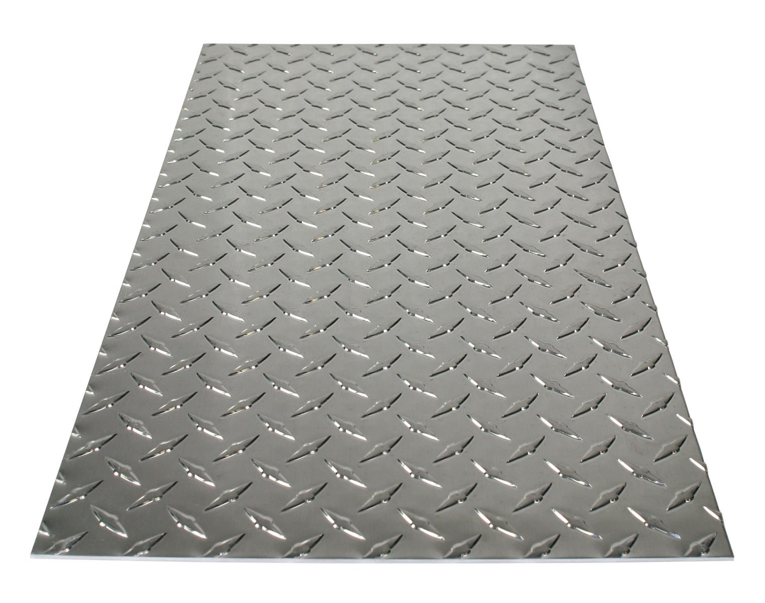 M-D Building Products 56022 11-7/8-Inch by 23-7/8-Inch .073-Inch Thick Polished Aluminum Treadplate