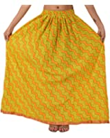 Skirts 'N Scarves Women's Long Cotton Maxi Painted Dress