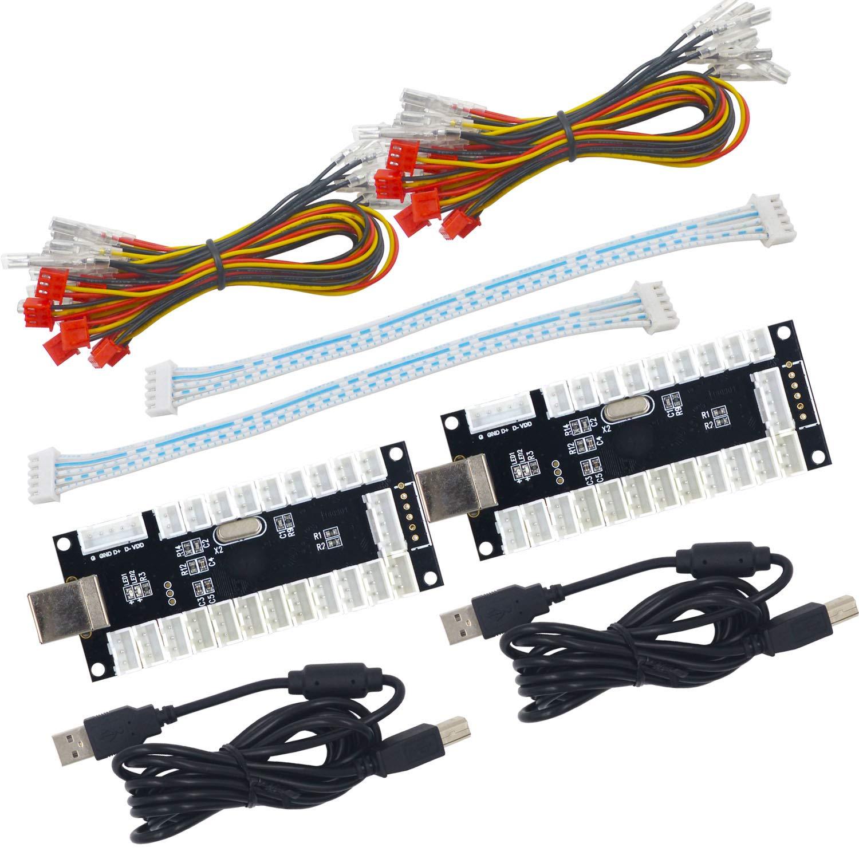 2 Jugadores LED USB Encoder a Arcade Joystick Mame Raspberry