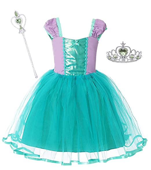 Dormstop Girls Cinderella Dress Little Mermaid Costume Snow White Dresses Rapunzel Princess Costumes 18 Months 6 Years