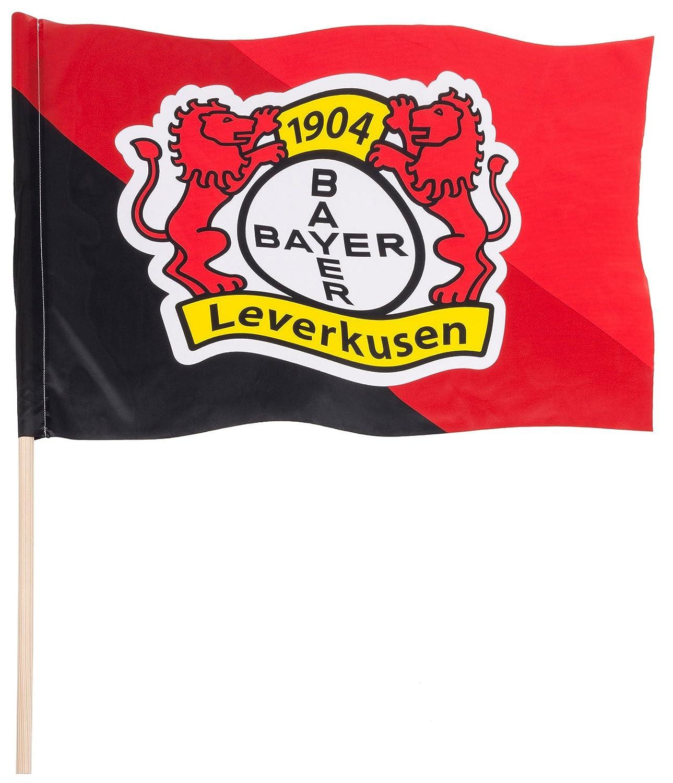gratis Aufkleber Flaggenfritze Hissflagge Bayer 04 Leverkusen 120 x 300 cm