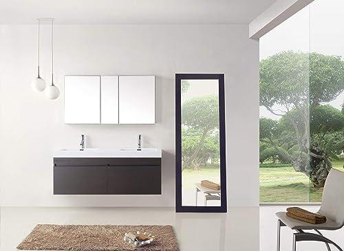 Virtu USA Zuri 55 inch Double Sink Bathroom Vanity Set