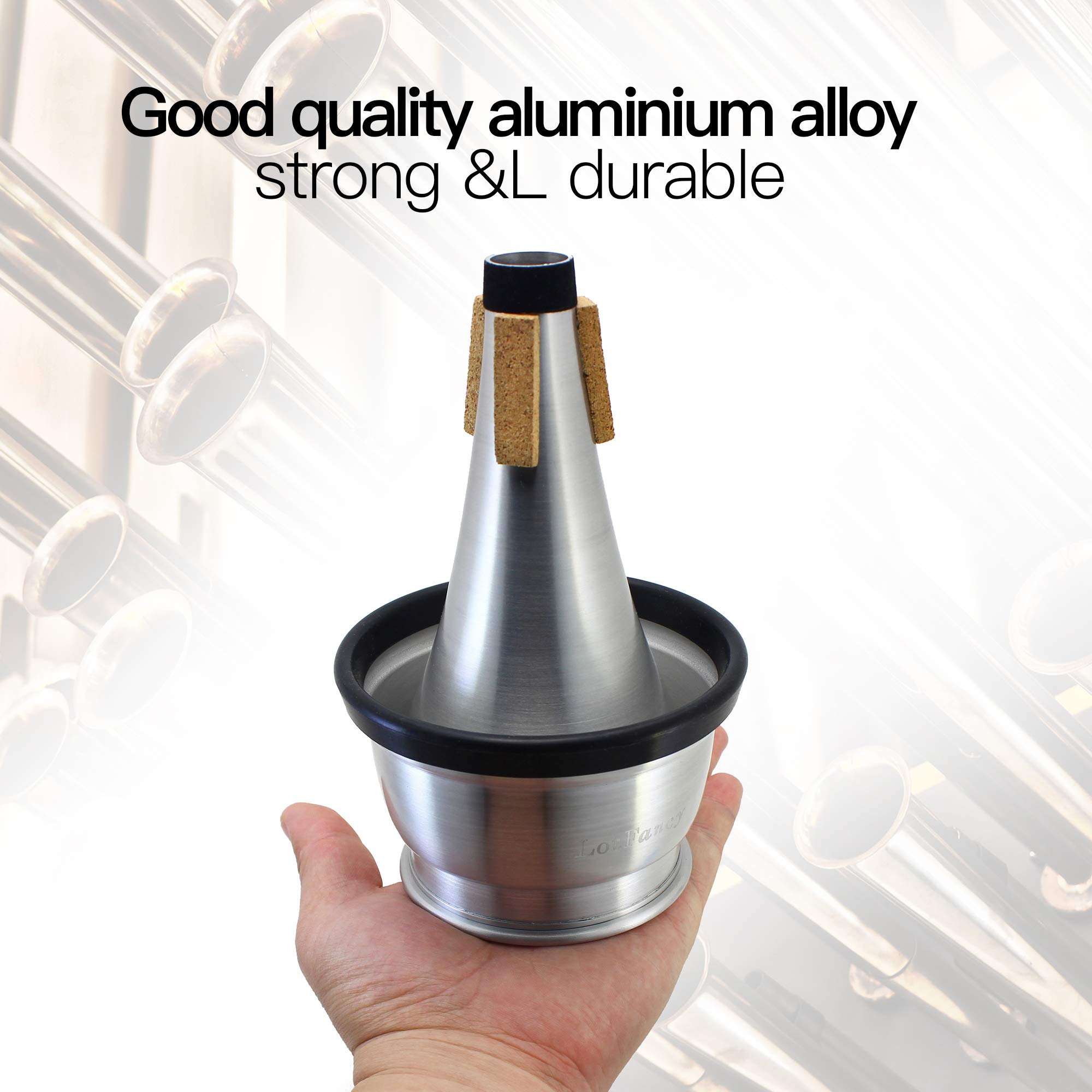 LotFancy Adjustable Cup Trumpet Mute, Aluminum