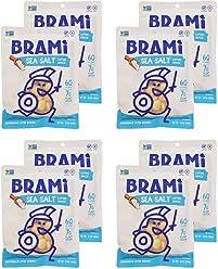 BRAMI Lupini Bean Snack, Sea Salt | Plant Protein, Vegan, Gluten-Free, Low Calorie, Zero Net Carb, Keto, Lightly Pickled, Mediterranean Legume | Pack of 8, 5.3 oz (150g)