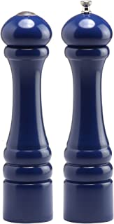 product image for Chef Specialties 10 Inch Imperial Pepper Mill and Salt Shaker Set - Cobalt Blue