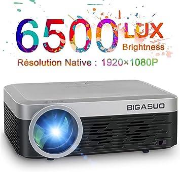 BIGASUO - Proyector, Full HD 1080P pantalla de 200 pulgadas ...