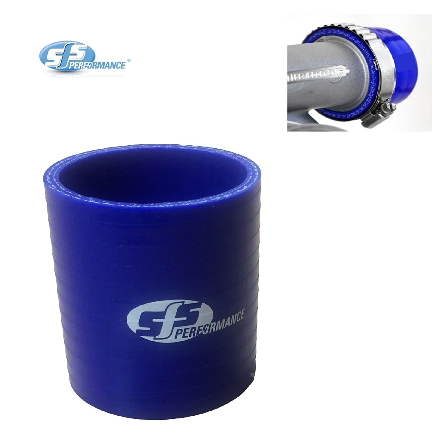 SFS 2.5' Blue Silicone Straight Coupling Connector 63mm Turbo Intercooler Hose