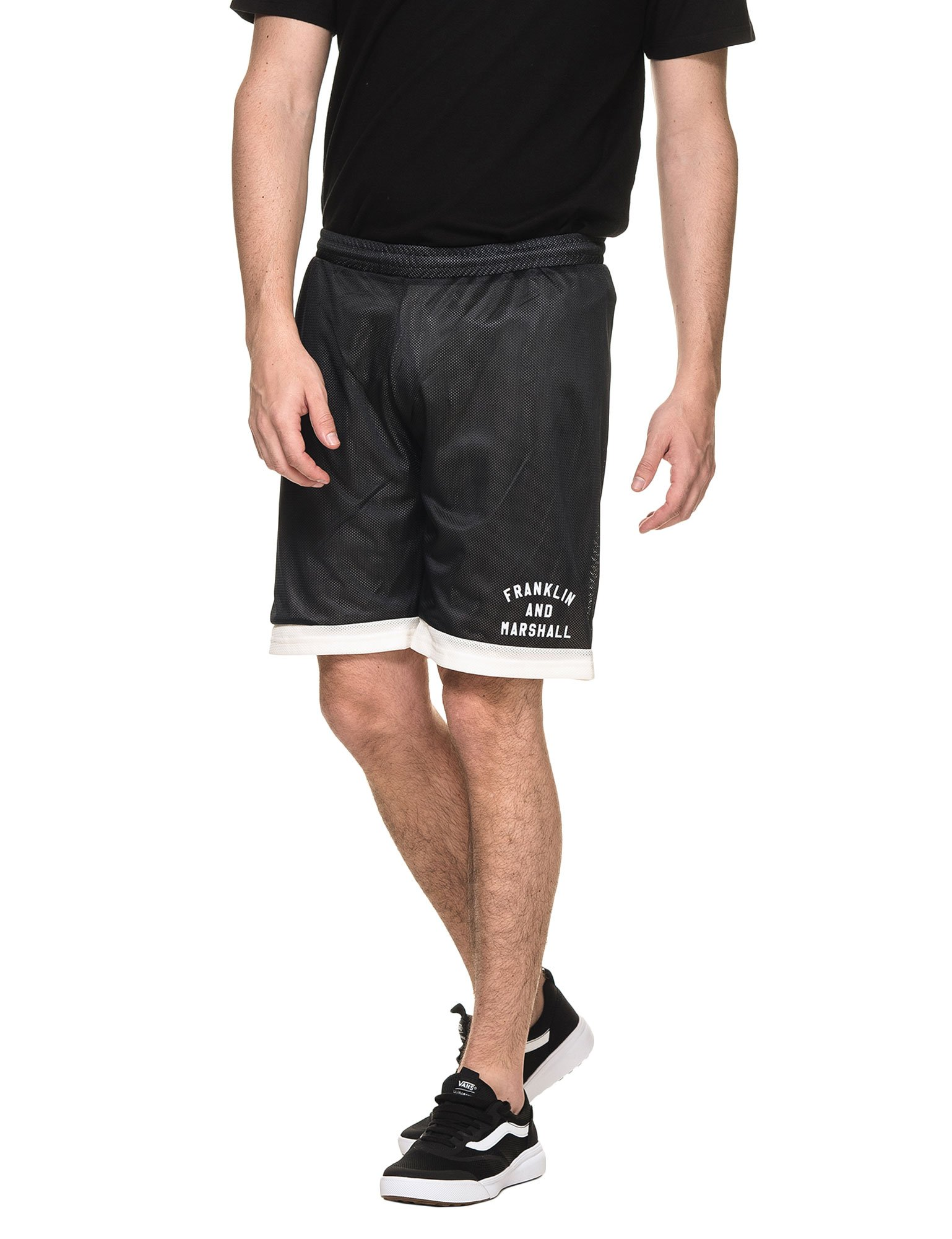 Franklin & Marshall Men's Fleece Uni Shorts Black in Size XL