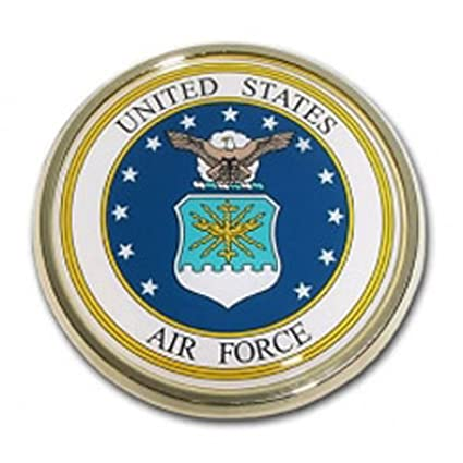 U.S. Air Force Crest Chrome Auto Emblem