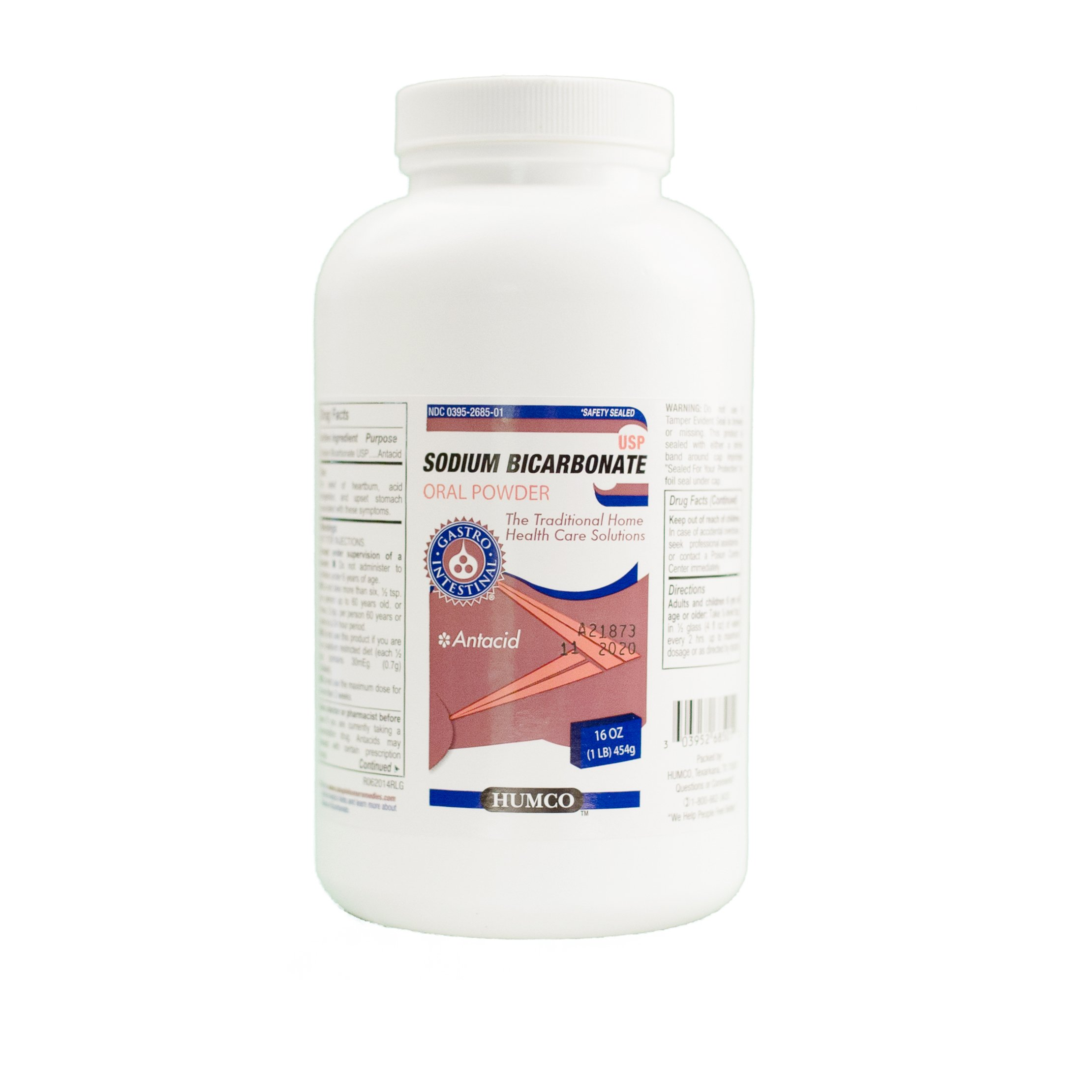 Humco Sodium Bicarbonate Powder, Oral, 1 lb.