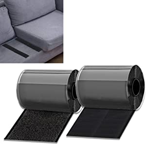 KAEGREEL Couch Cushion Non Slip Pads to Keep Couch Cushions from Sliding, Hook and Loop Tape with Adhesive for Smooth Surfaces, 11cm Wide 2M Long