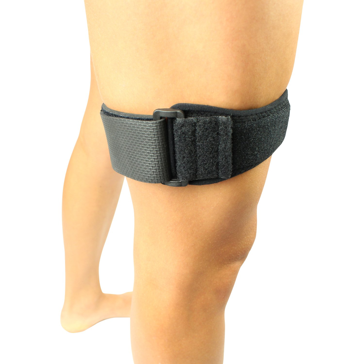 IT Band Strap by Vive - Iliotibial Band Compression Wrap - Outside of Knee Pain, Hip, Thigh & ITB Syndrome Support Brace for Running and Exercise