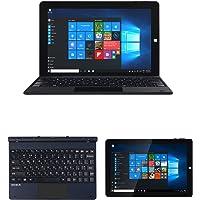 """Tablet Laptop 2 en 1 de 10.1"""" pulgadas con teclado desmontable ultra-sensitive, pantalla touch y 1280x800 gráficos HD integrado con procesador quadcoreX64 intel cherrytail-T3, sistema operativo windows 10, con entrada USB y acabado kevlar PC."""