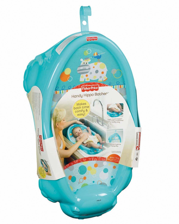 Amazon.com : Fisher-Price Handy Hippo Bather : Baby Bathing Seats ...