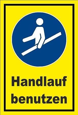 Schild Gebots Zeichen Hand Lauf Benutzen Entspr Din Iso 7010