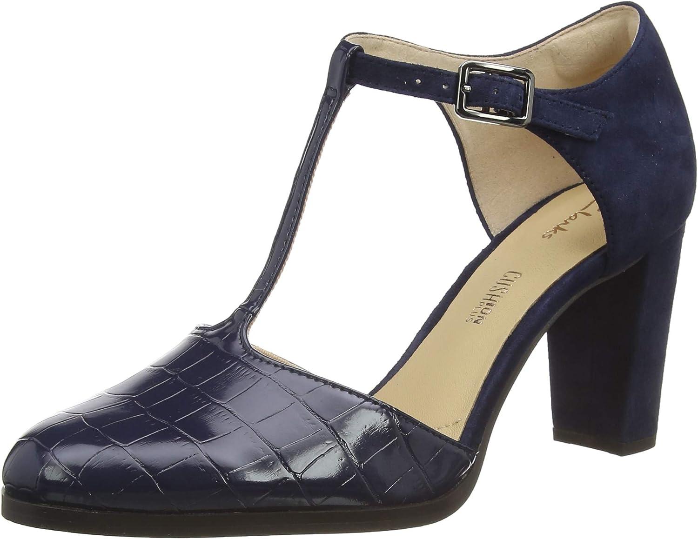 Clarks Kaylin85 Tbar, Zapatos de Tacón para Mujer
