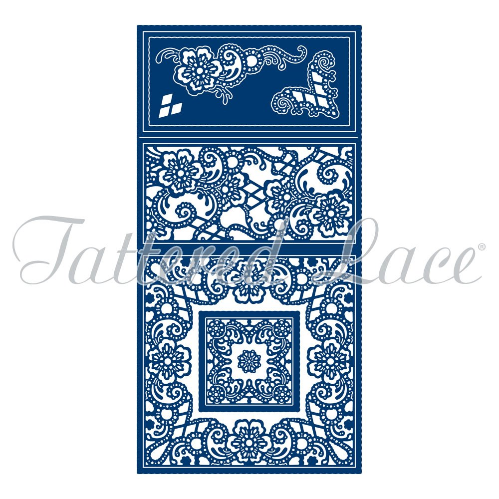 Tattered Lace Ornamental Easel Card Cutting Dies Set TLD0265 Includes 10-Dies