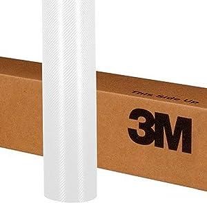 """3M 1080 CF10 WHITE CARBON FIBER 60""""x12"""" Vinyl Flex Wrap"""