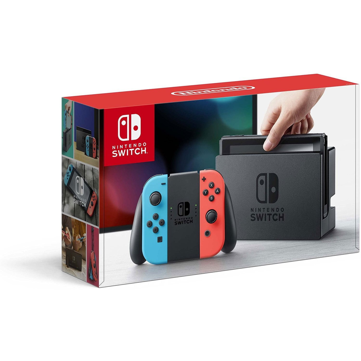 Nintendo Switch - Neon Red and Neon Blue Joy-Con (Renewed)