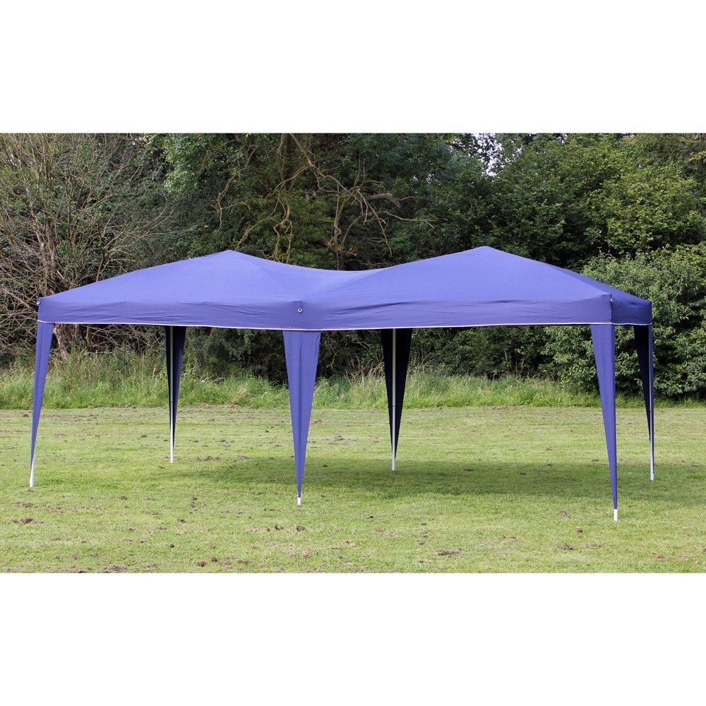 Amazon Palm Springs 10 X 20 EZ POP UP BLUE Canopy New Gazebo NO Sidewalls Sports Outdoors