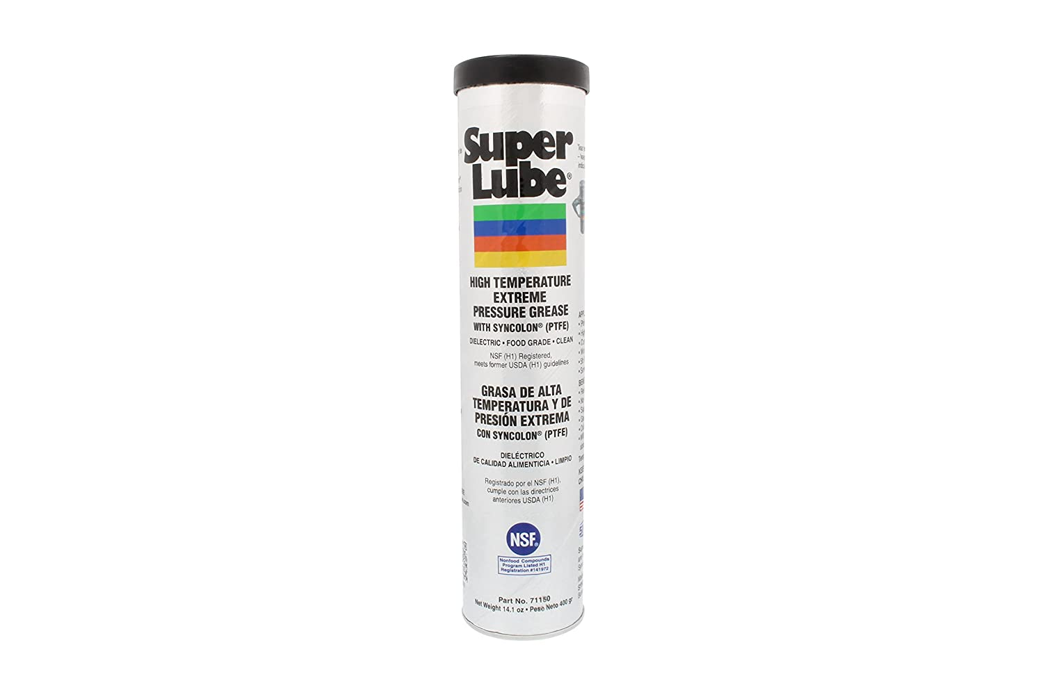 Super Lube 71150 High Temperature E.P. Grease, 14.1 oz Cartridge , White