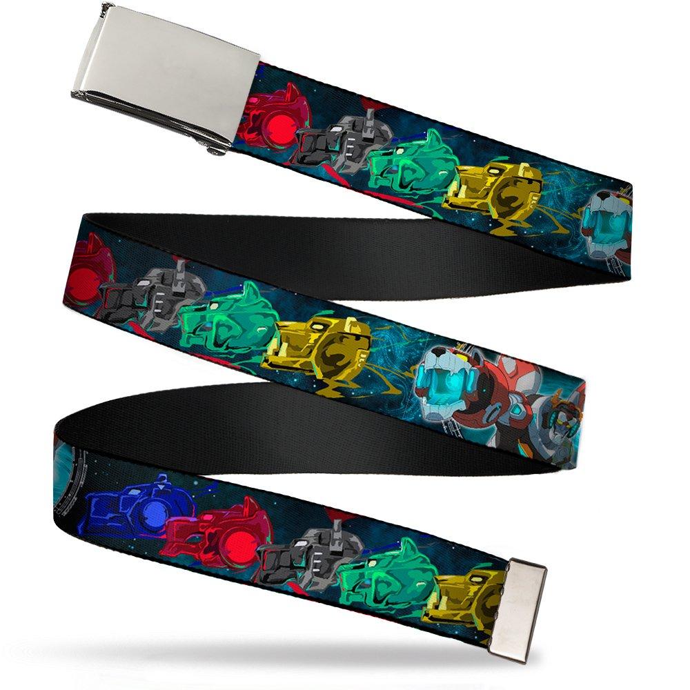 Fits up to 42 Pant Size Buckle-Down Mens Web Belt Voltron Multicolor 1.25 Wide