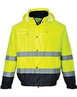 Amazon Com Portwest Men S Lined Hi Vis Fleece Jacket