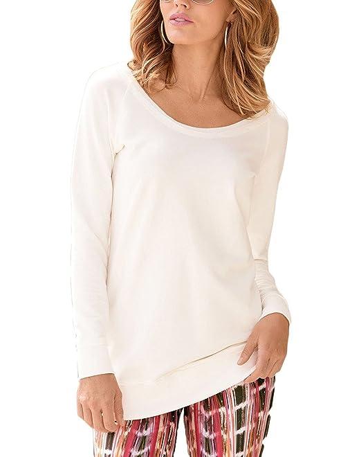 Camisetas Mujer Basicas Manga Larga Cuello Redondo Unicolor Shirts Sencillos Especial Elegantes Fashion Anchas Casual Otoño Blusa Tops Camisas Mujer Estilo: ...