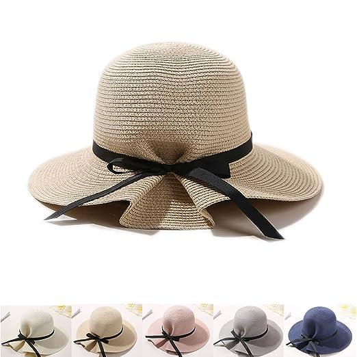 e33c155cd015b Dealzip Inc Stylish Women Floppy Sun Beach Straw Floppy Hats Wide Brim  Packable Summer Flap Cap