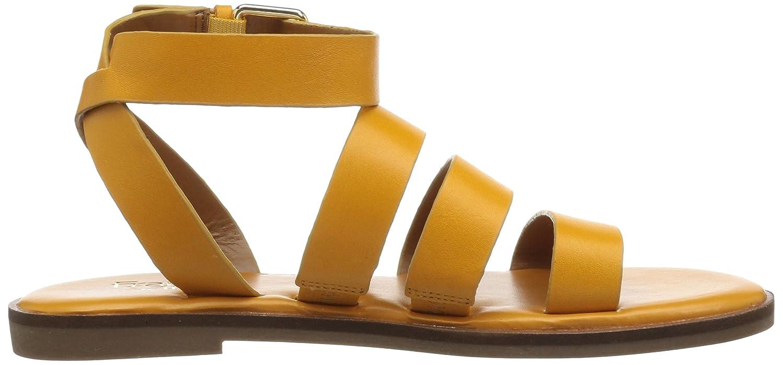Franco Sarto Women's Kyson Flat Sandal B078V8Y19Z 9.5 B(M) US|Goldenrod
