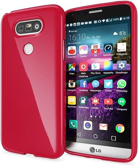 NALIA Funda Compatible con LG G5, Ultra-Fina Gel Protectora Movil ...