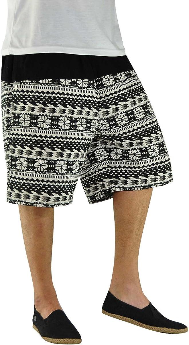 virblatt Ð Hippie Bermuda Shorts with Tribal Pattern - Quintessenz