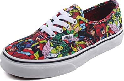 Amazon.com | Vans X Marvel Comics Authentic Multi/White Kids Size ...