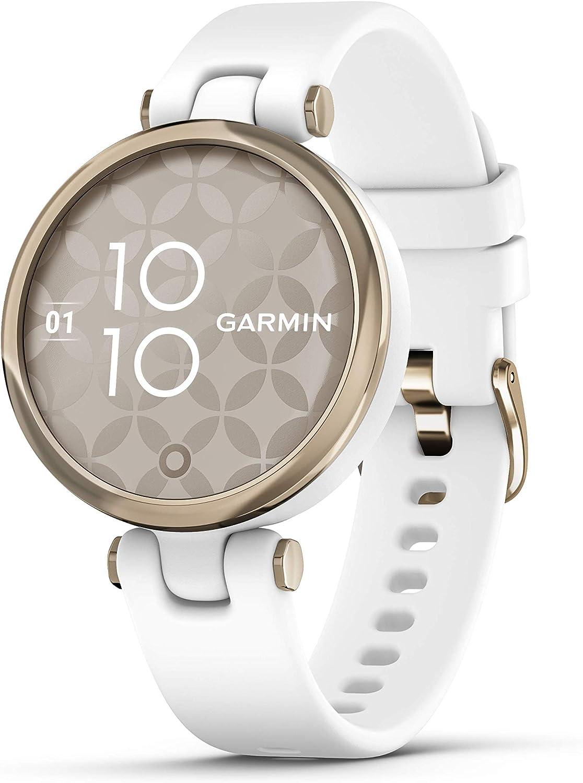 Garmin Lily Sport, Reloj Inteligente pequeño y Elegante - Blanco Light Gold