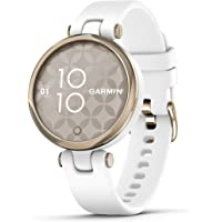 $179 » Garmin Lily, Small GPS Smartwatch with Touchscreen and Patterned Lens, Light Gold…