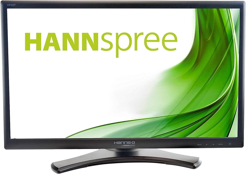 HannsG HP227DJB - Pantalla LED Widescreen 21.5 Pulgadas, 1920 x 1080, 5ms, VGA, DVI, Full HD, Ajuste de Altura, Altavoces, VESA: Amazon.es: Informática