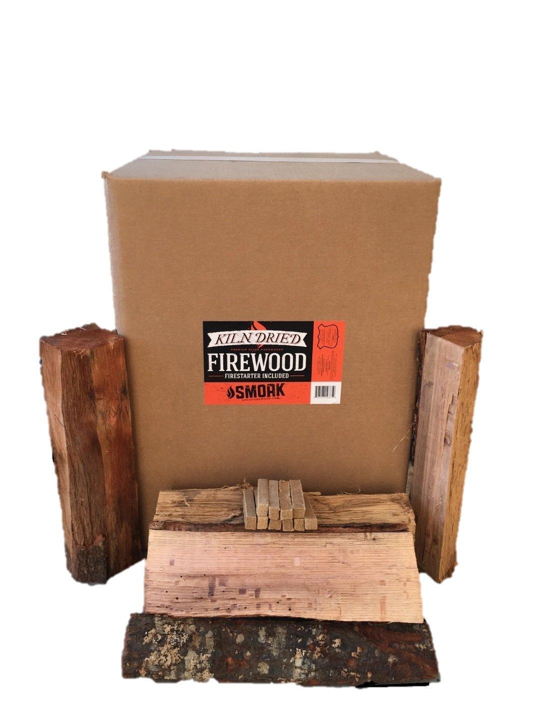 Smoak Firewood - Kiln Dried Premium Oak Firewood (Includes Firestarter) (Large (16inch Logs) 120-140lbs) by Smoak Firewood