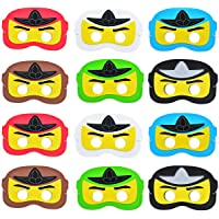 Ninja EVA Masks for Ninja Themed Birthday Party Supplies 12 Pack