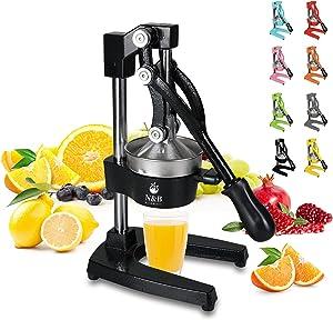Professional Citrus Press Juicer Commercial Grade Manual Hand Heavy Duty Orange Squeezer Orange Juicer Lemon Squeezer Premium Quality Upgrade,Black