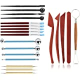 Polymer Clay Tools,HBlife Ceramic Pottery Tools Sculpting Kit Wax Tools for Shaping Embossing Sculpting Clay Soap Making…