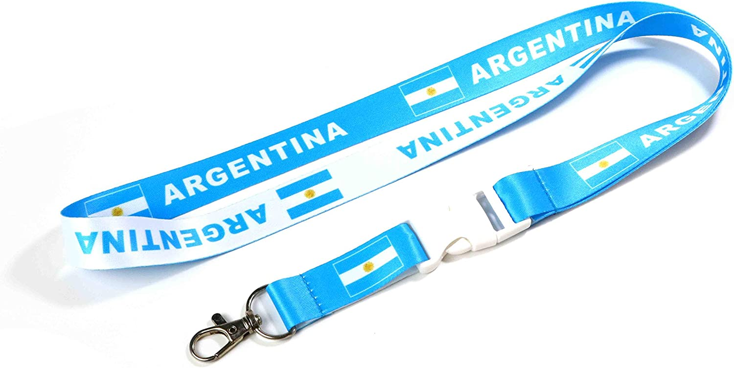 Country of Argentina Flag Lanyard for Keys Keychain Souvenir