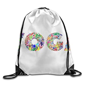 bag new Bolsa Nueva Abstract Floral Yoga Tipografía Unisex ...