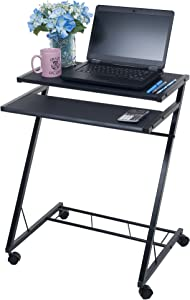 Lavish Home Mobile Rolling Cart Compact Computer Desk (80-CT10080)